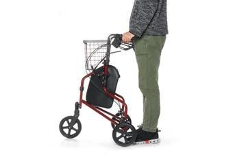 Walker 3 Wheel Rollator Folding Walking Frame Outdoor Indoor Mobility Aid Basket
