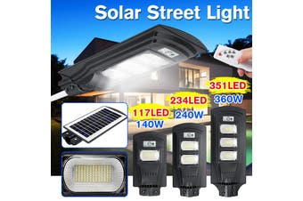 AUGIENB 40W/80W/120W Solar Street Light 20/40/60 LED Solar Lights Outdoor IP67 Waterproof Solar with Motion Sensor Security Light for Yard Garden, Street, Basketball Court, Gutter