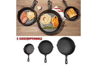 1pcs 3 Sizes Cast Iron Non-Stick Frying Griddle Pan Barbecue Grill Fry BBQ Skillet Cooker Egg Pancake Steak