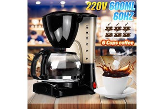 650W 6 Cups Coffee Household Drip-type Coffee Maker American Coffee Tea Machine