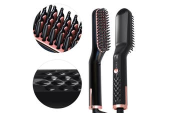Multifunctional Electric Beard Hair PTC heater Straightener Brush Hair Ceramic Comb Straightening Quick Styling Combs Unisex US/EU/UK Plug