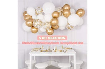 Girl Party Balloons Garland Kit Chrome Gold Confetti Balloons Arch Backdrop Wall