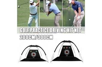 2M/3M Golf Practice Driving Hit Net Cage Training Mat Aid With Cutting Hole