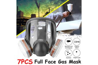 For 3m 6800 Full Face Gas Mask Facepiece Respirator Painting Industrial Guard-7 in 1