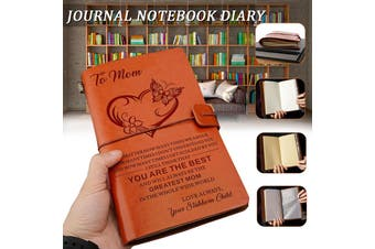 To My Mom You Best Love Daughter Son Engraved Leather Journal Notebook Diary #