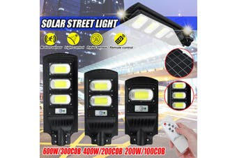 100/200/300COB Remote Solar Wall Street Light PIR Motion Outdoor Garden Light