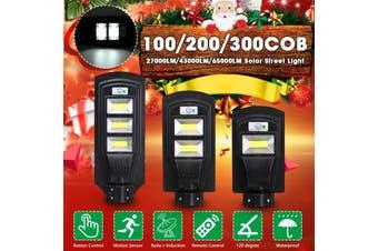 200W/400W/600W LED Solar Street Light PIR Motion Sensor Outdoor Wall Lamp+Remote