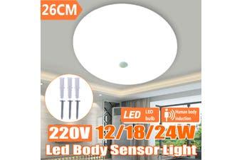 24W 220V 120° Ultra Bright Motion Sensor LED Ceiling Light Daylight Cabinet Home