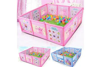 Cartoon Kids Play Pen Fence Playpen Baby Safety Pool Baby Game Toddler Craw 47.2*47.2*16.5 in(pink)