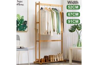 Clothes Cabinet Simple Solid Wood Coat Rack Hanger Floor Bedroom Storage Rack Living Room Clothes Rack