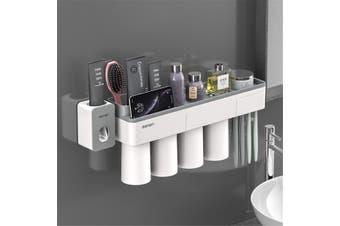 Magnetische aantrekkingskracht tandenborstelhouder tandpasta Scheerapparaat Plank 2 3 4 cup Opbergrek badkamer washroom accessoires set Muur