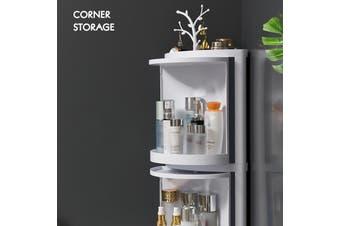 Multi-function Bathroom Wall Mounted Kitchen Cosmetic Storage Box Case Organizer(white)