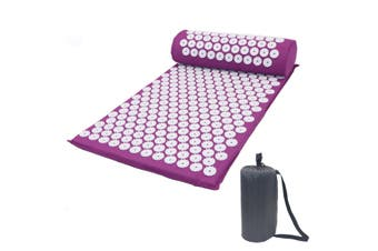 3PCS/Set Yoga Kit Massage Acupressure Mat Yoga Lying Mat+Pillow+Storage Bag Pain Stress Soreness Relax Relief Back Neck Pain
