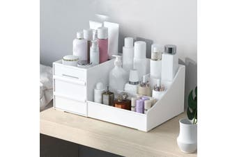 Makeup Drawers Organizer Storage Box Jewelry Container Makeup Case Cosmetic -- White / Pink / Green