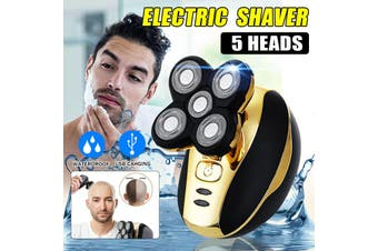 Electric 5Head IN 5D Smart USB Rechargeable Wireless Wet Dry Bald Waterproof Shaver Hair Trimmer Clipper For Men