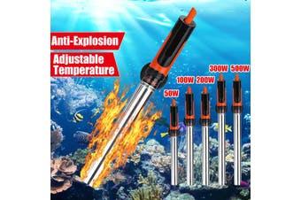 100W 220V Anti-Explosion 304 Stainless Aquarium Submersible Heater Rapid Heating Fish Tank Water Adjustable