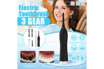 Portable Electric Sonic Ultrasonic Dental Scaler Tooth Stains Tartar Usb Charging Teeth Calculus Remover Tooth Whitening Tool(black,upgraded version)