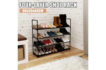 Shoe Rack 4 Tier Shoe Tower Shelf Shoe Storage Organizer Shoe Sneaker Bench