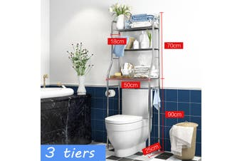 Metal Over Bathroom Shelf Toilet Storage Unit Metal Racks Rail Rack HomeTray
