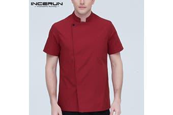 INCERUN Mens Womens Chef Uniform Cooker Work Wear Restaurant Kitchen Coat Shirts Tops