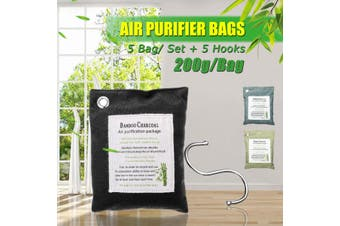 5 PCS Activated Bamboo Charcoal Airs Purifying Bag Airs Freshener Deodorize Home