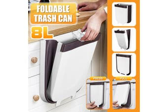 Foldable Kitchen Cabinet Door Hanging Trash Can Wall-mounted Waste Baskets Push-top Trash Garbage Bin Can Rubbish Container