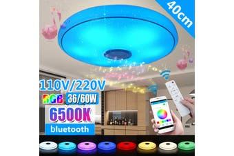 110-220V 40cm 36W/60W Ceiling LED Light bluetooth Speaker Wall Switch / Mobile APP Control / Remote Control Brightness