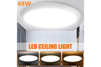 40CM 48W Round LED Modern Dimmable Ceiling Light Fixture Ceiling Lights for Living Room/Bedroom/Kitchen/Dining Room, Dustproof, Waterproof, Cool White , Nature White , Warm white