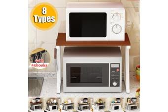 2 Tier Adjustable Microwave Oven Rack Detachable Kitchen Shelves Home Storage