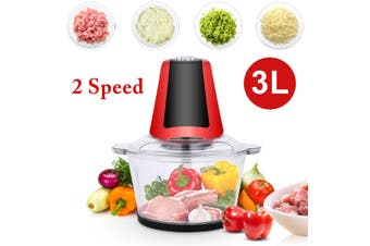 220V 3L Electric Meat Grinder Food Blender Chopper Household Processor Machine