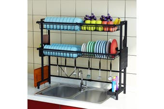 Adjustable Sink Utensils Dish Drying Rack Stainless Steel Drainer Kitchen