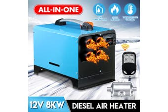 All In One 12V 8KW Diesel Air Heater Car Parking Heater