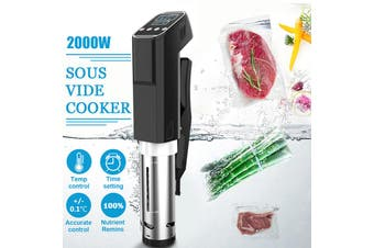 AUGIENB 2000W Sous Vide Cooker Digital LCD Display Time and Temperature Control Sous- Vide Slow Cooker - EU Plug(EU Plug)