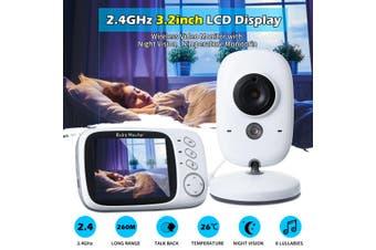 Night Vision Video Audio 2-Way alk 3.2'' Digital Wireless Baby Monitor Wifi(AU PLUG)