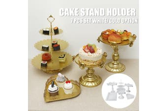 Iron Cake Stand Cupcake Holder Supplie Kids Birthday Home Wedding Party Decor(white,White)