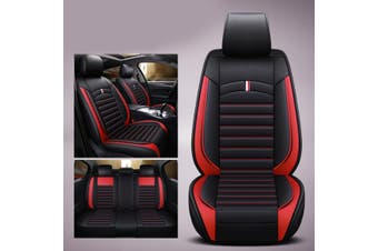 Universal Car Seat Mat Covers PU Leather Breathable Cushion Pad 4Colors(red,New Upgrade)