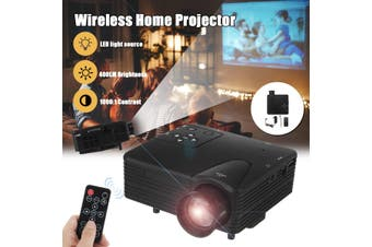H80 mini Portable LED Projector 640x480 Pixels Supports Full HD 1080P LED Projector Video Home Theater AV/VGA/SD/USB/HDMI