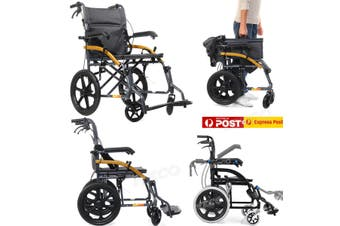 Foldable Portable Ultra Light Wheelchair For The Elderly And Disabled Adjustable Thickened steel tube portable traveling trolley
