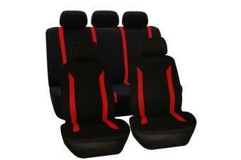 9PCS -- Universal Car Seat Covers Full Car Seat Cover Car Cushion Case Cover -- Red