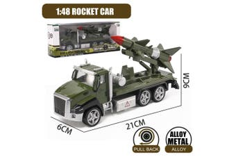 1 :48 Military Vehicles Army Toy Assorted Metal Model Cars Tank Jeep Attack Helicopter Playset for Kids Toddlers (Rocket Model)(Rocket car)