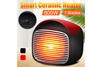 800W Mini Electric Heater Portable Space Home Office Warmer Fan Handy Air Heating Hot Desk 220V EU Plug
