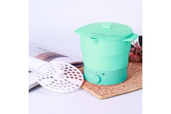 Portable Folding Silicone Hot Pot Electric Cooker Travel Boiling Water Steamer