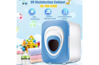 UV & Heating 1.2L Towel Tool Sterilizer Warmer Cabinet Disinfection For Baby