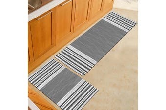 2pcs/Set Kitchen Floor Carpet Non-Slip Area Rug Living Room Washable Door Mat Set