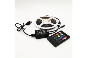 (Waterproof/Non-waterproof) 1/2/3/4/5m USB Power LED Strip Lights 5050 RGB TV Backlight Remote Music Control