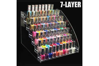 Transparent Nail Polish Rack Acrylic Nail Polish Organizer Nail Polish Holder Display Stand Rack Organizer Having 2-7 Layer Optional