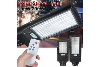 AUGIENB 100W/200W Solar Street Light 88/136 LED Solar Lights Outdoor IP67 Waterproof Solar Flood Light with Motion Sensor Security Light for Yard, Garden, Street, Basketball Court