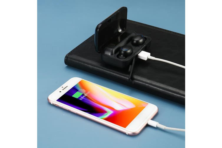 2020 Newest Hot CVC8.0 Noise Reduction TWS Earbuds 8D HIFI Stereo bluetooth 5.0 Earphones Binaural/Single Ear IPX7 Waterproof Sports Battery Indicator/LED Digital Display 4500mah