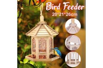 【Care for birds 】Outdoor Wooden Hanging House Bird Feeder Bird House Bird Frame Rainproof Sturdy