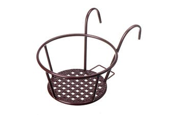 Metal Flower Holder Shelf Stand Hanging Pots Basket Plant Garden Wall Storage